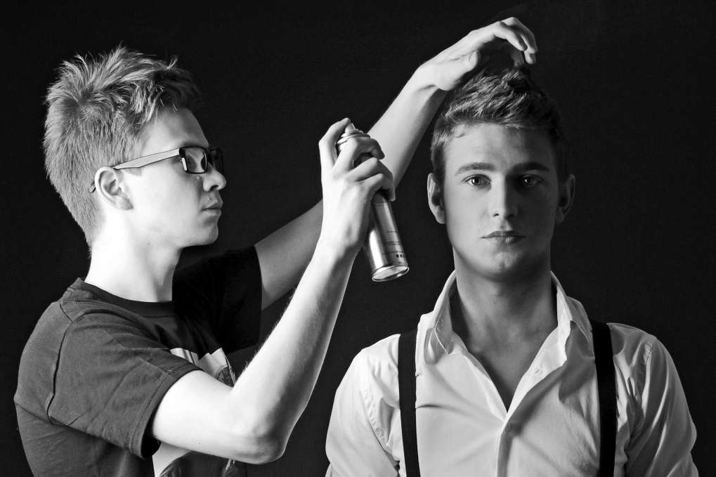 Backstage photoshoot of Alexey.